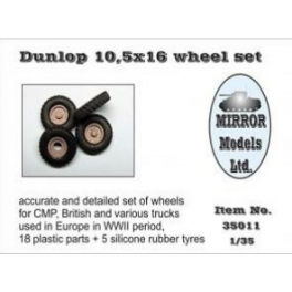 35011 1/35 Wheel Set for CMP and British Trucks Dunlop 10.5x16