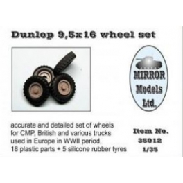 35012 1/35 Wheel Set for CMP and British Trucks Dunlop 9.5x16