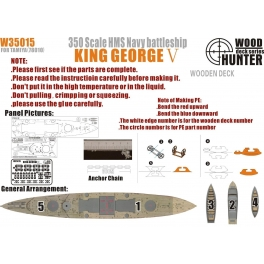 W 35015 	1/350 WWII Battelship HMS King George V