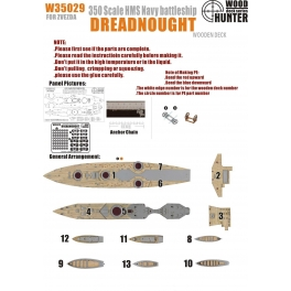 W 35029 	1/350 WWII Battleship HMS Dreadnought