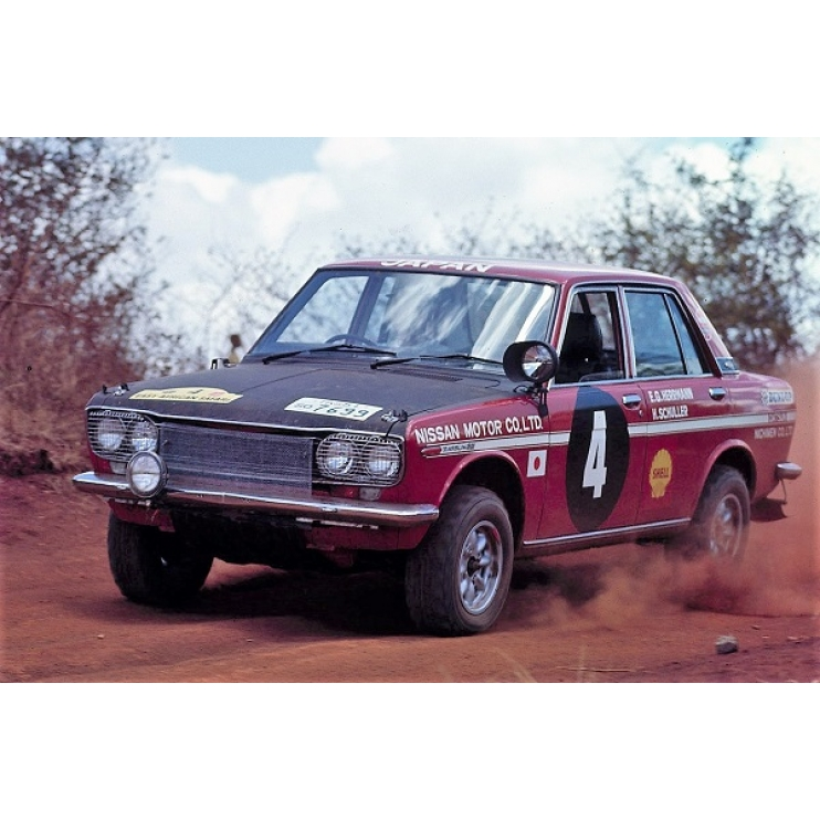 21266 Nissan Bluebird 1600 SSS 1970 East African Safari Rally Winner 1:24,