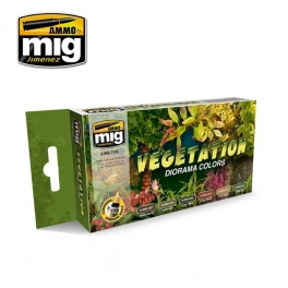 AMIG7176 VEGETATION DIORAMA COLORS