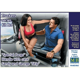 """MB24062 Truckers series. """"Special Cargo"""" - Handle with care! Sandy and George """"Skip"""""""