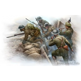 35114 1/35 British Infantry before the attack, WWI era