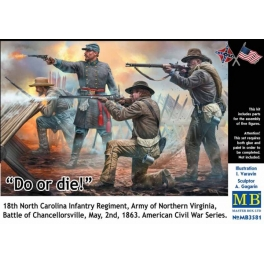 3581 1/35 Do or die! 18th North Carolina Infantry Regiment, Army of Northern Virginia, Battle of Chancellorsville, May, 2nd, 1863. American Civil War Series
