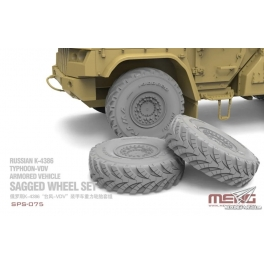 SPS-075 Sagged Wheel Set for Russian K-4386 Typhoon-VDV Armored Vehicle 1\35