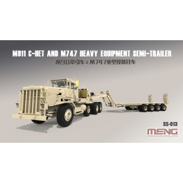 SS-013 1/35 U.S. M911 C-HET (8×6) & M747 Heavy Equipment Semi-Trailer