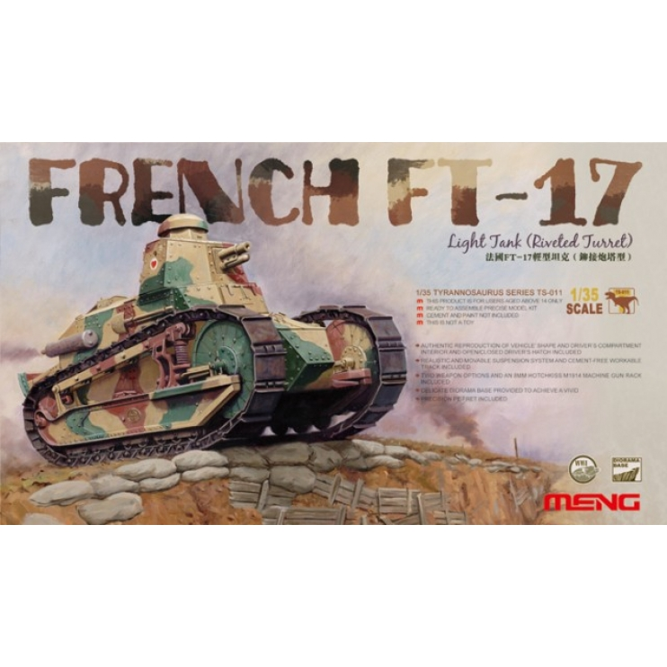 TS-0111/35 French FT-17 Light Tank (Riveted Turret)