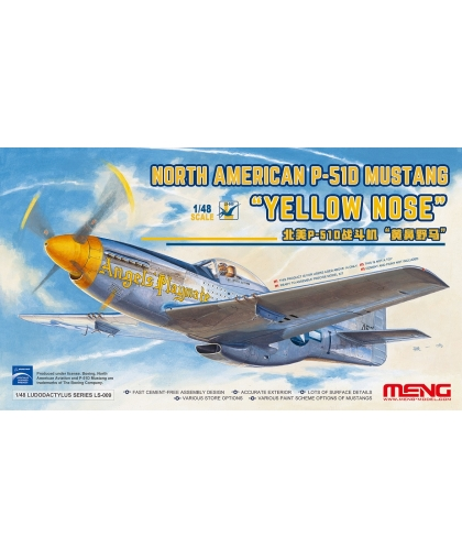 "LS-009 1/48 MENG North American P-51D Mustang ""Yellow Nose"""