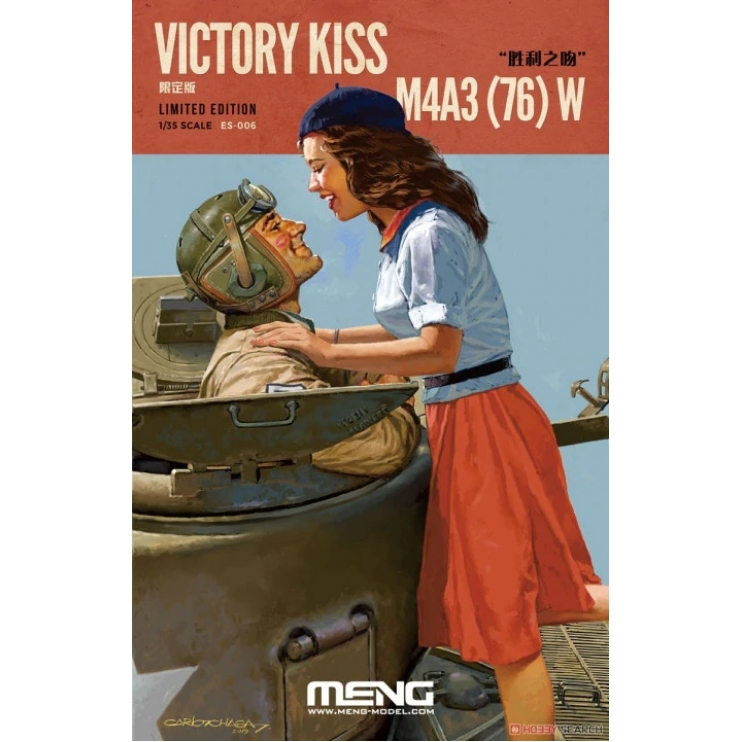 ES-006 M4A3(76) W Resin Figures + Sherman detail upgrade Set (PE) Victory Kiss