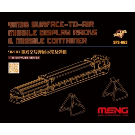 SPS-063 1/35 Russian 9M38 Surface-to-air Missile Dispaly Racks & Missile Container (Resin)