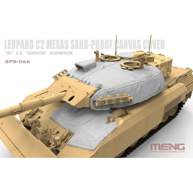 SPS-066 1/35 Canadian Main Battle Tank Leopard C2 MEXAS Sand-Proof Canvas Cover (RESIN)