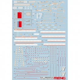 SPS-080 NEW 1/700 PLA Navy Shandong Marking Decals (For PS-006)