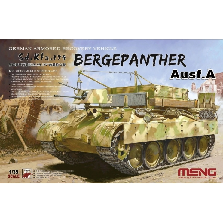 SS-015 1/35 German Armored Recovery Vehicle Sd.Kfz.179 Bergepanther Ausf.A