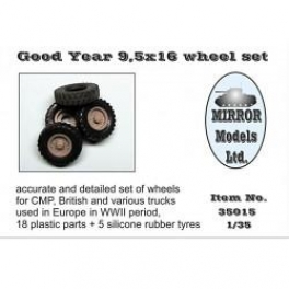 35015 1/35 Wheel Set for CMP and British Trucks Goodyear 9.5x16