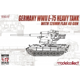 UA72136 1/72 Germany WWII E-75 Heavy Tank with 128mm Flak 40 Gun