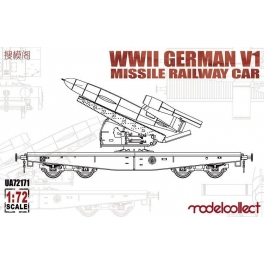UA72171 1/72 WWII Germany V1 Missile Railway Car