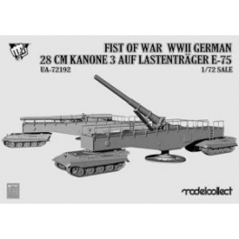 UA72192 1/72 Fist of War WWII German 28cm Kanone 3 Auf Lastentrage