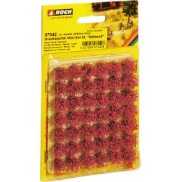 """07042 Grass Tufts XL""""blooming"""" red, 42 pieces, 9"""