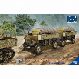 RV35041 1/35 German Hf.7 steel field trailer with resin towing fork (Dual pack)