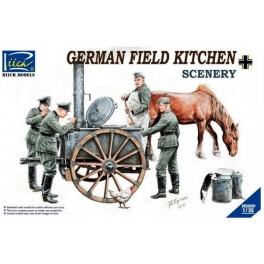 RV35045 1/35 German Field Kitchen with Soliders (cook & three German soldiers,food containers)