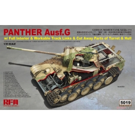 RM-5019 1/35 Panther Ausf.G w/ Full Interior & Workable Track Links & Cut Away Parts of Turret & Hull