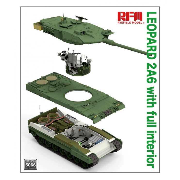 RM-5066 Leopard 2A6 with Full Interior 1\35