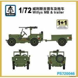 PS720046 1/72 Willys MB with trailer