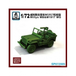 SP072005 1/72 Willys MB & M1917 MG