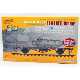 35A03-SVP  1/35 German Railway FLATBED Ommr (2 in 1) Super value pack (1+1) - Double kits and Double