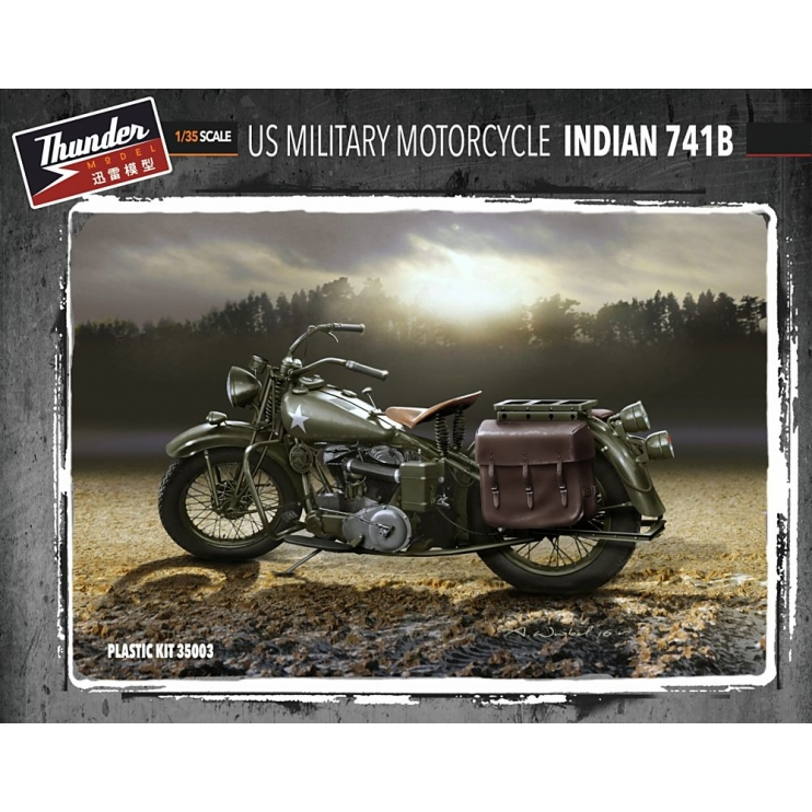 TM35003 1/35 US Military Motorcycle Indian 741B