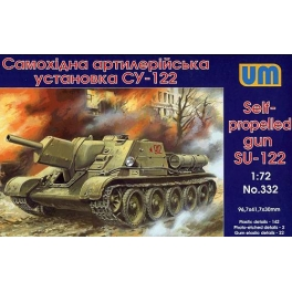 332 1/72 SU-122 WW2 Soviet self-propelled gun