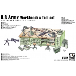 AF35302 U.S. Army Workbench & Tool set 1\35