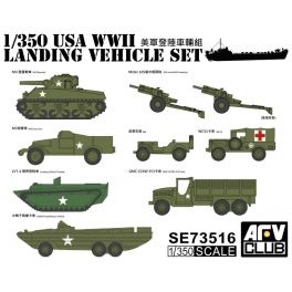 SE73516 1/350 US WW2 Vehicle Set