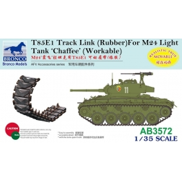 AB3572 	1/35 T85E1 Track Link (Rubber Type) For M24 Light Tank 'Chaffee'
