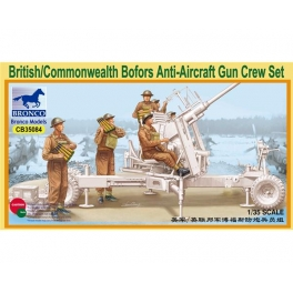 CB35084 1/35 British/Commonwealth Bofors Gun Crew