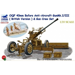 CB35111SP 	1/35 OQF Bofors 40mm Anti-Aircraft Gun Mk. I/III (British Army)&Gun Crew Set