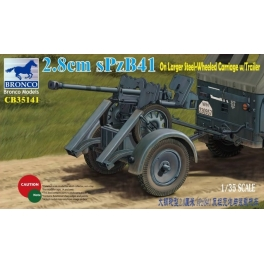 CB35141 	1/35  2.8cm sPzb41 On Larger Steel-Wheeled carriage