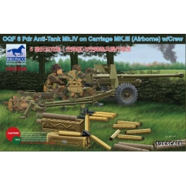 CB35168 1/35 OQF 6 Pdr Anti-Tank Gun Mk.IV on Carriage Mk.III (Airborne) with Crew