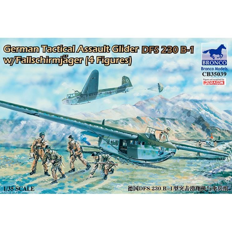 CB35039 1/35 GERMAN INVASION GLIDER DFS-230 B-1 W/PARATROOPS (OPERATION EICHE)