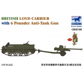 CB35189 British Loyd Carrier with 6 Pounder Anti-Tank Gun