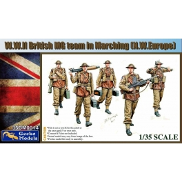35GM0014 WWII British MG Team in March (N.W.Europe) 1\35