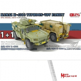 35019 KAMAZ K-4386Typhoon-VDV family 1+1 1\35 RPG Model