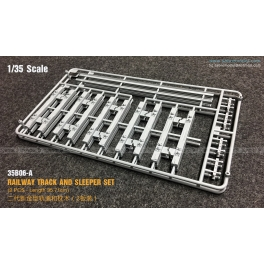35B06-A 1/35 RAILWAY TRACK AND SLEEPER SET (2 PCS - Length 35.71 cm)