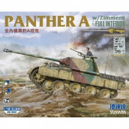 NO-003 PANTHER A  W/ZIMMERIT&FULL INTERIOR 1/48