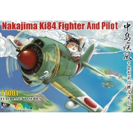 TT-001 NAKAJIMA KI84 FIGHTER AND PILOT CUTE PLANE