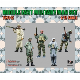TK7312 MIDDLE EAST MILITARY MAN SET (Weapon include) 1\72