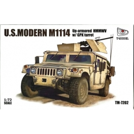 TM-7202 1/72 U.S. Modern M1114 Up-armored HMMWV w/ GPK Turret