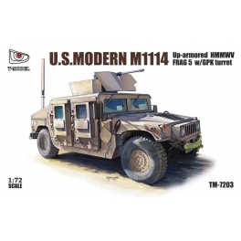 TM-7203 1/72 U.S. Modern M1114 FRAG 5 w/ GPK Turret Up-Armored HMMWV