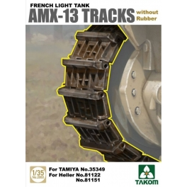 2060 1/35 French Light Tank AMX-13 Tracks without Rubber